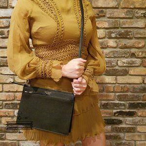 Kate spade cameron zip crossbody black leather NWT